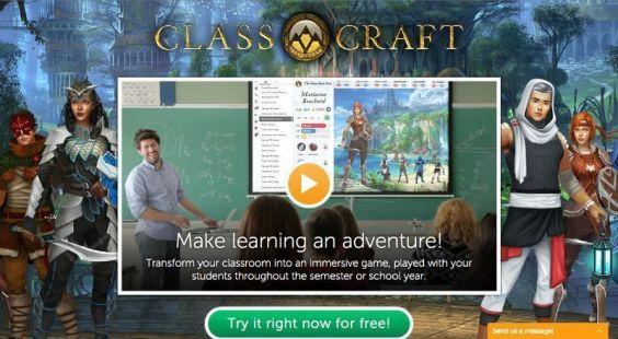 Classcraft-Homepage